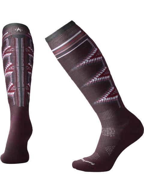 Smartwool PhD Ski Light Pattern Socks Women Bordeaux